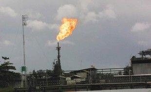 Le terminal pétrolier Shell d'Eguatu, Warri-Sud, au Nigeria.