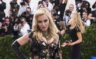 Madonna au gala du Met le 1er mai 2017 à New York.