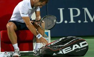 Richard Gasquet a une nouvelle fois été touché au dos lors de son match face à Roger Federer jeudi.