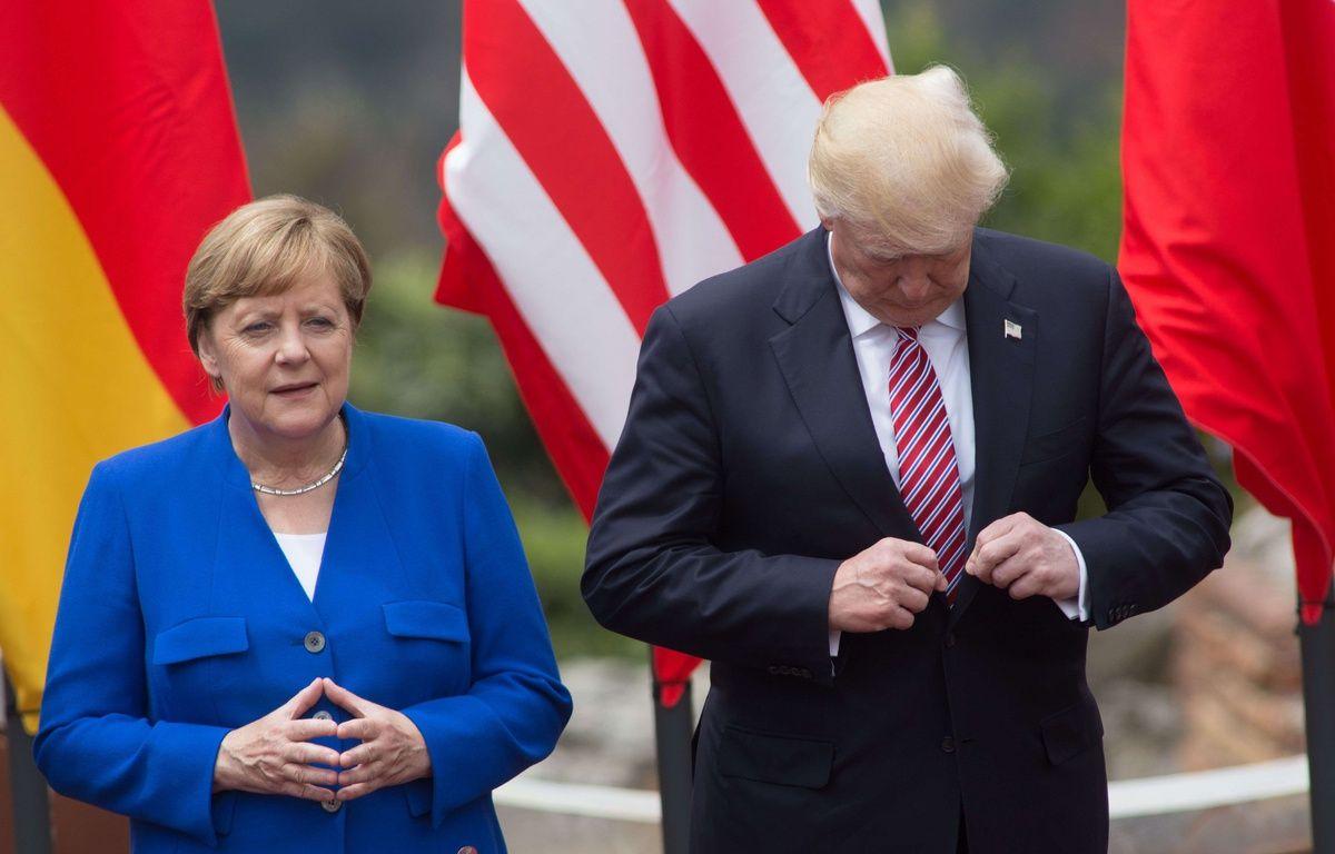 Angela Merkel et Donald Trump au sommet du G7 en Sicile le 26 mai 2017.  – action p/Shutterstock/SIPA