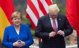 Angela Merkel et Donald Trump au sommet du G7 en Sicile le 26 mai 2017.