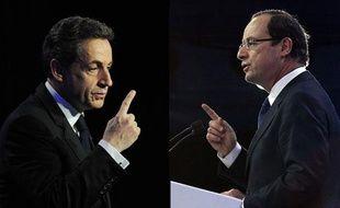 Nicolas Sarkozy etFrançois Hollande, montage photo.