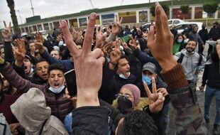 Des manifestants à Alger, le 23 février 2021, pour le deuxième anniversaire du Hirak.