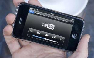 L'app YouTube sur un iPhone.