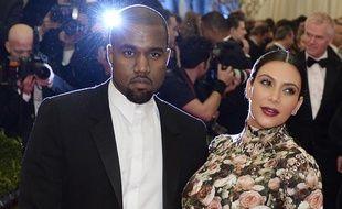 Kanye West et Kim Kardashian, le 6 mai 2013 à New York.