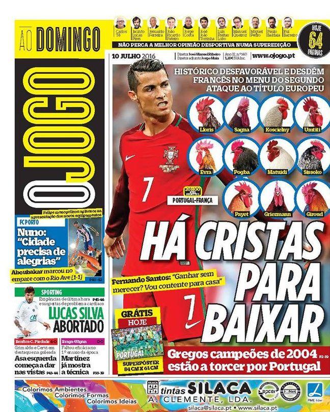 Le journal portugais O Jogo, le 10 juillet 2016.
