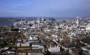 Le centre de Liverpool et l'estuaire de la Mersey.
