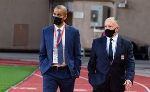 Tony Parker et Jean-Michel Aulas, ici en mai dernier lors du match entre l'AS Monaco et l'OL en Ligue 1.