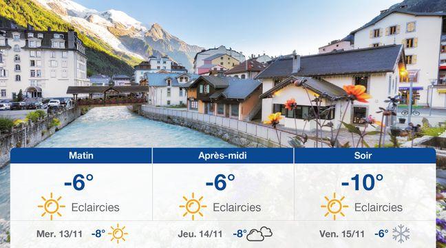 Météo Chamonix: Prévisions du mardi 12 novembre 2019 - 20minutes.fr