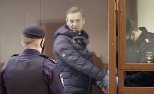 L'opposant russe Alexeï Navalny au tribunal le 16 février 2021.