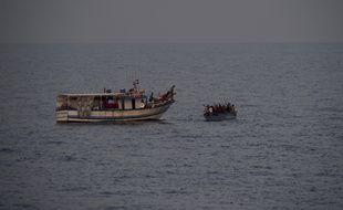 Migrants en mer Méditerranée en septembre 2019