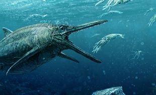 Le féroce prédateur, digne des pires monstres de films d'horreur, rodait dans nos océans il y a 170 million d'années.