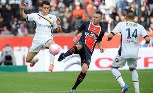 L'attaquant parisien jérémy Ménez, le 22 avril 2012, contre Sochaux, au Parc des Princes.