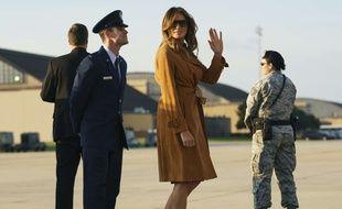 Melania Trump sur la base aérienne d'Andrews, en partance pour l'Afrique le 1er octobre 2018.
