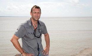 """Patrick Deixonne, initiateur d'une expédition scientifique française vers le """"continent de plastique"""" dans l'Atlantique Nord , photographié le 13 avril 2012 à Cayenne"""