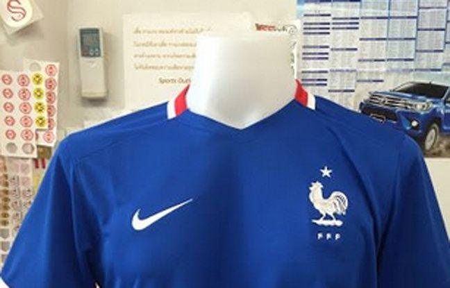 Une fuite du possible maillot de l'équipe de France pour l'Euro 2016.