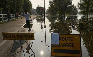 Inondations dans l'Eure, le 5 juin 2018.