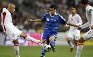 Yoann Gourcuff contre la Tunisie avec l'Equipe de France.