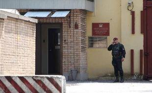 Entrée de la prison de Lefortovo, de Moscou, où Svetlana Davydova était détenue sous l'accusation de haute trahison
