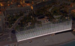 Le 14 juillet à Nice, des faisceaux lumineux seront projetés en hommage aux victimes.