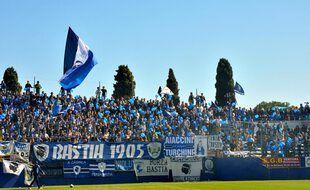 Supporters Bastia - 15.10.2011 - Bastia / Lens - 11e journee Ligue 2 Photo : Michel Maestracci / Icon Sport