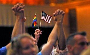 Hommage aux victimes d'Orlando à Indianapolis, le 12 juin 2016.