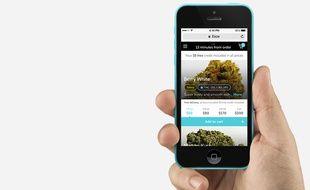 La start-up Eaze livre du cannabis médicinal dans la région de San Francisco.