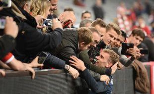 L'attaquant de l'Atletico Antoine Griezmann, le 3 mai 2016, à Munich.
