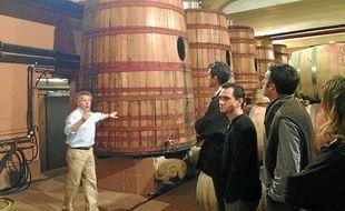 Alain Asselin, du domaine Puech Haut, passionné et passionnant, évoque la vinification.