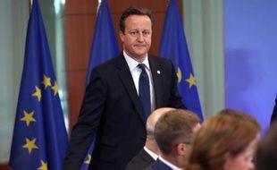 Le Premier ministre britannique David Cameron assiste au sommet européen le 27 juin 2014 à Bruxelles