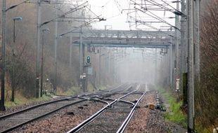 Illustration de voies ferrées, ici à Bruz, près de Rennes.