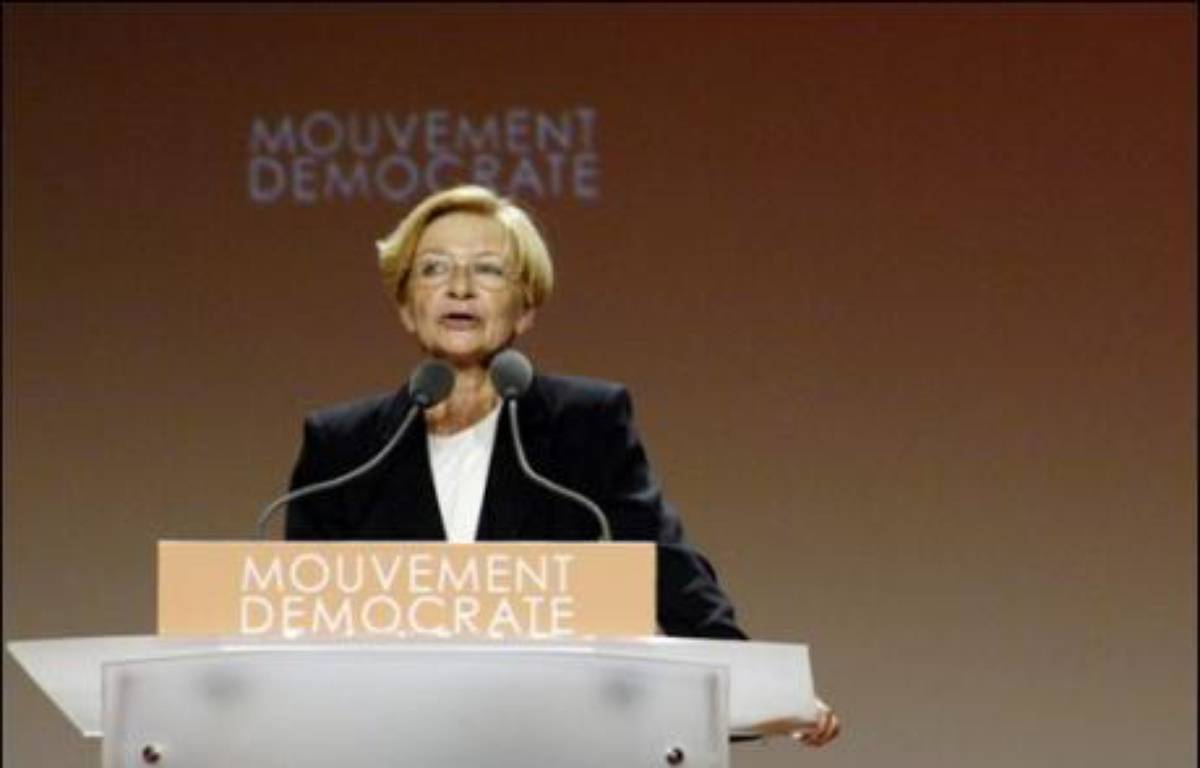 La députée UDF-Mouvement démocrate du Rhône, Anne-Marie Comparini, plus que jamais fidèle à François Bayrou, refuse toute alliance avec la gauche pour les législatives, mais elle devra en obtenir les suffrages pour espérer conserver son siège dans la 1ère circonscription. – Stéphane De Sakutin AFP