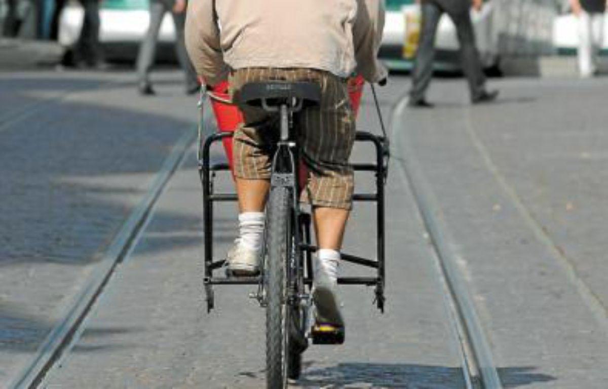 En moyenne, sur 100 déplacements dans la CUS en 2009, 8 se faisaient à vélo. –  G. VARELA/20MINUTES