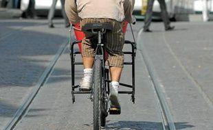 En moyenne, sur 100 déplacements dans la CUS en 2009, 8 se faisaient à vélo.