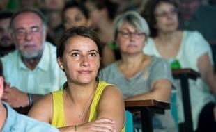 Cécile Duflot aux Journées d'été d'EELV à Lille, le 21 août 2015.