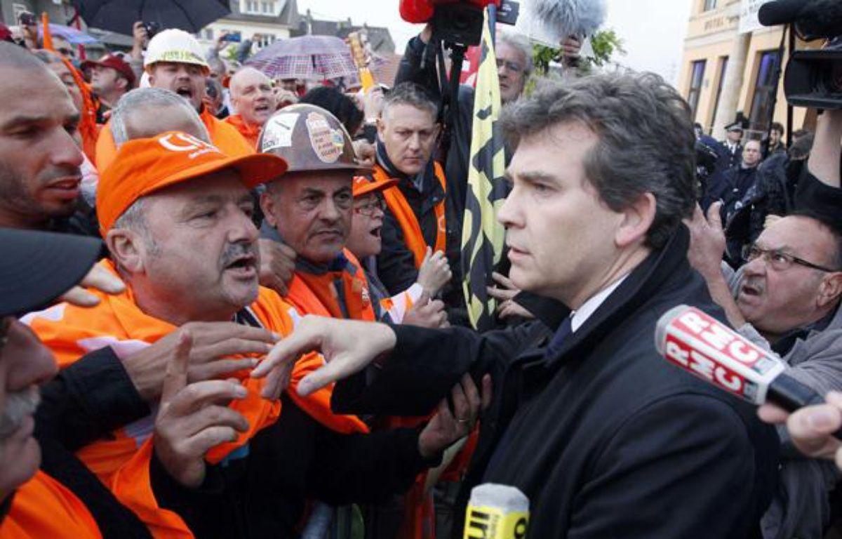 Arnaud Montebourg sur le site d'ArcelorMittal àFlorange, le 27 septembre 2012. – Mathieu Cugnot/AP/SIPA