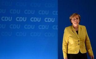 La chancelière allemande Angela Merkel lors du congrès de son parti, la CDU, à Cologne le 10 décembre 2014