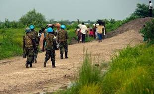 Une patrouille des Nations Unies à Malakal (Soudan du Sud) le 9 juillet 2014
