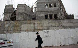 Des logements en construction dans une colonie de Ramat Shlomo, le 5 juin 2014