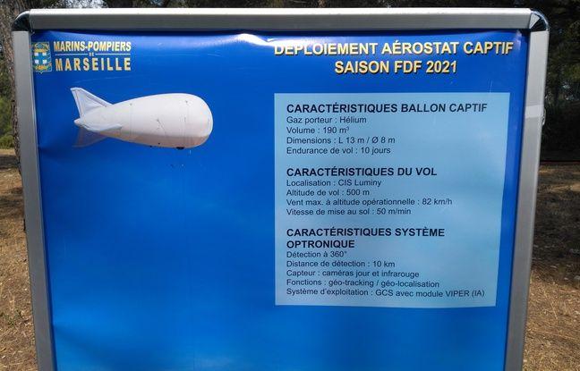 Le ballon captif pour lutter contre les incendies a été développé par une entreprise de La Ciotat