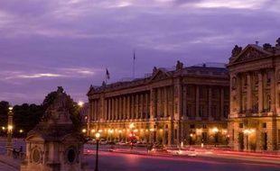 L'Hôtel de Crillon place de la Concorde à Paris.