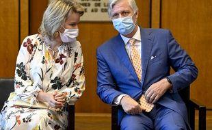 Le roi Philippe et la reine Mathilde, le 23 juin 2020 à Antwerp en Belgique.