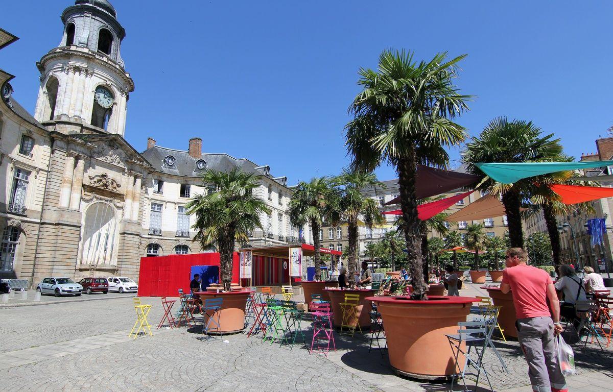 La place de la Mairie à Rennes, ici lors de l'événement Transat en ville. – C. Allain / APEI / 20 Minutes