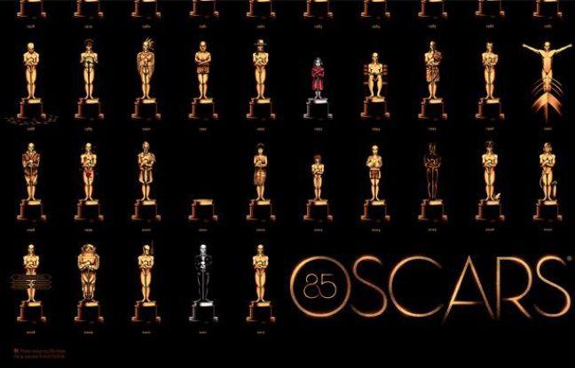 Une partie de l'affiche des Oscars 2013.