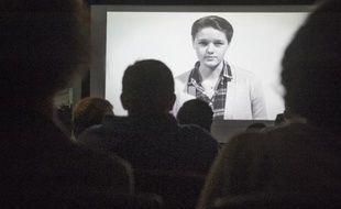 Une vidéo de prévention des abus sexuels sur les campus est projetée à l'American University de Washington, le 10 novembre 2014