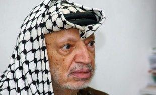 Yasser Arafat, président de l'OLP, le 5 septembre 2004, lors d'une réunion à Ramallah