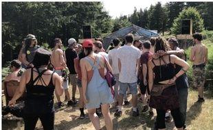 La zone «PLS» de la Freak Show Party le 14 juillet 2018.