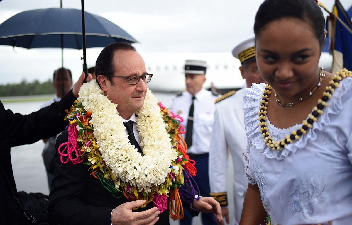 François Hollande à Wallis, le 22 février 2016.  – STEPHANE DE SAKUTIN / AFP