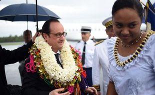 François Hollande à Wallis, le 22 février 2016.