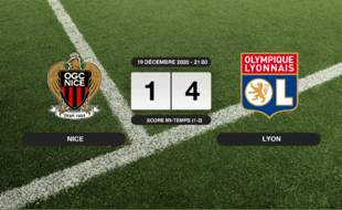 OGC Nice - OL: Succès 1-4 de l'OL face à l'OGC Nice
